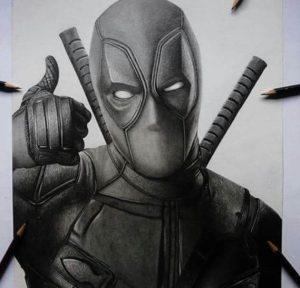 retrato de deadpool