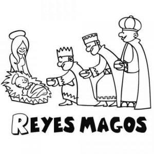 Dibujos de los Reyes Magos a lápiz