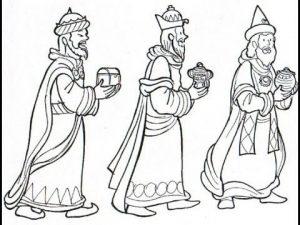 Dibujos de los Reyes Magos hechos a lápiz