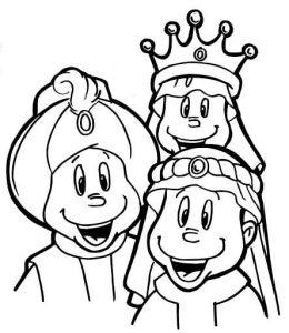 Dibujos de los Reyes Magos para niños