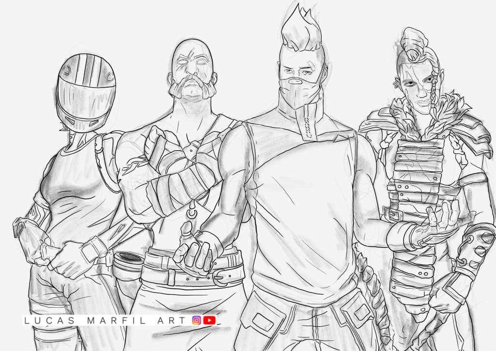 13 Dibujos De Fornite Battle Royale A Lápiz Increíbles