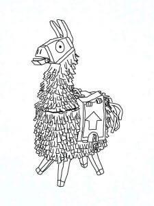 Dibujo Fortnite Llama
