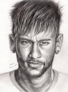 dibujos de neymar