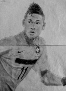 dibujos de neymar a ápiz