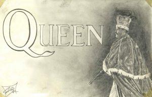 dibujos de queen a lápiz