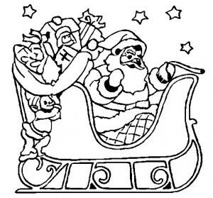 dibujos de santa claus con lápiz