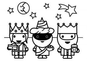 dibujos hechos a lápiz de los reyes magos