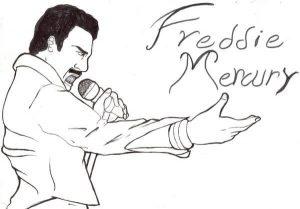 freddie mercury con lápiz