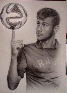 neymar jr con lápiz