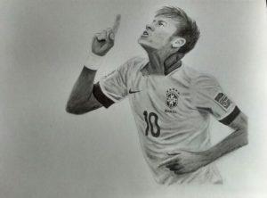 retratos de neymar a lápiz