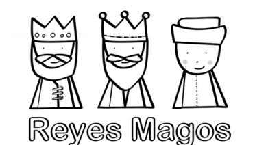 reyes magos para imprimir