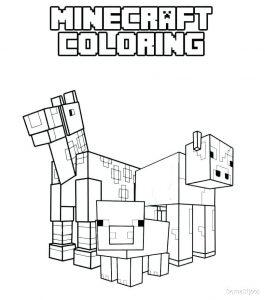 Dibujos de Minecraft para niños