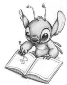 Dibujos de Stitch a lápiz