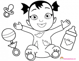 Dibujos de Vampirina para niños
