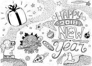dibujos de feliz año nuevo lindos