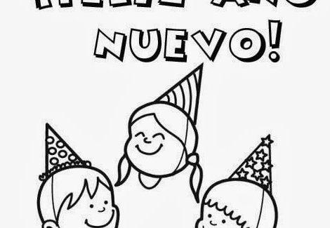 dibujos de feliz año nuevo para baar