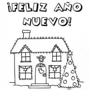 dibujos de feliz año nuevo para niños