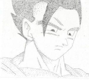 dibujos de puntillismo anime