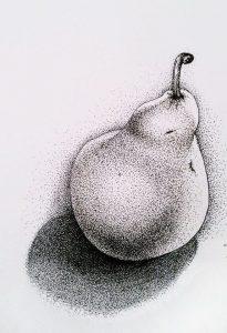 dibujos de puntillismo de peras