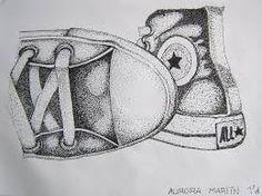 dibujos de puntillismo de zapatos