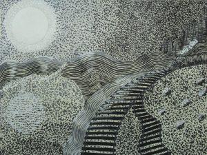 dibujos de puntillismo paisajes