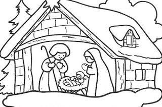 dibujos del nacimiento de jesus para descargar
