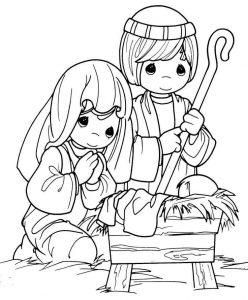 nacimiento a lápiz