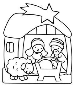 nacimiento de jesús a lápiz