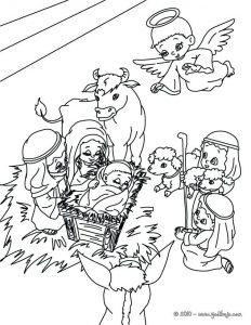nacimiento de jesus con lápiz