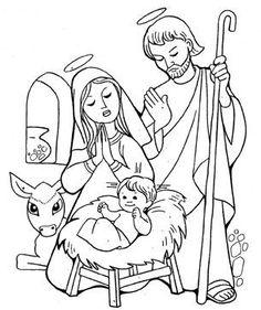 nacimiento del niño dios a lápiz