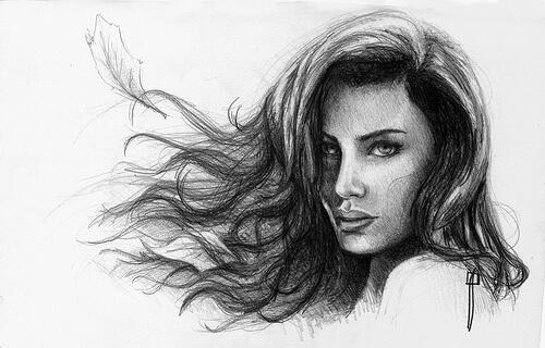 Dibujos A Lápiz De Mujeres Los Mejores Retratos Para Imprimir