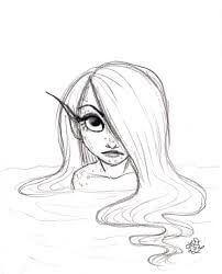 Dibujos De Sirenas A Lápiz Perfectos Para Las Pequeñitas