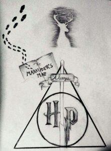 Dibujos De Harry Potter A Lápiz Harry Germione O Ron Para Descargar