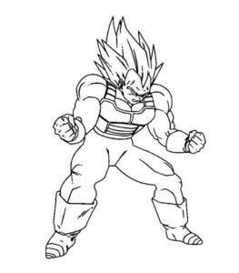Dibujos De Vegeta A Lapiz El Principe Sayayin De Dragon Ball