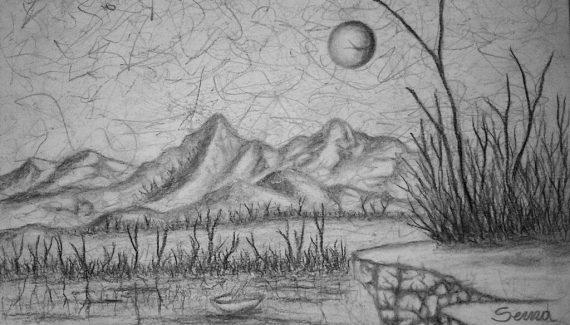 dibujos de montañas realistas