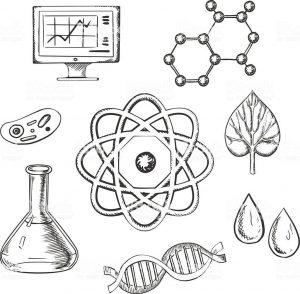Dibujos De Química A Lápiz Para Imprimir Portadas Para