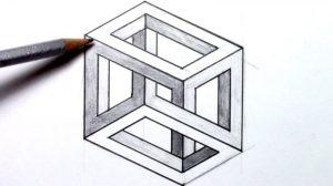 Dibujos con figuras Geométricas hechos a lápiz