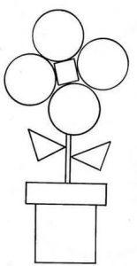 Dibujos con figuras Geométricas infantiles