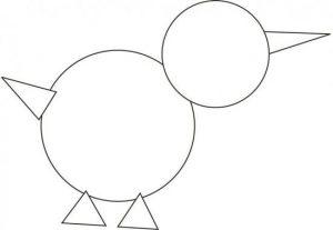 Dibujos con figuras Geométricas para niños
