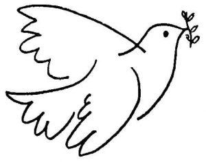 dibujos de la paz palomas