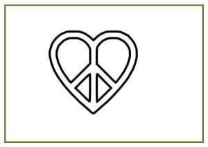 dibujos del símbolo de la paz