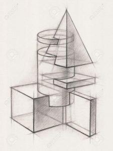 figuras geométricas a lápiz