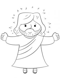 jesús a lápiz