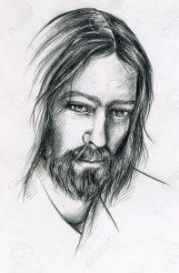 jesús hecho a lápiz
