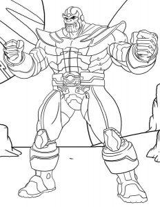 Thanos Dibujo Para Colorear Dibujoswiki