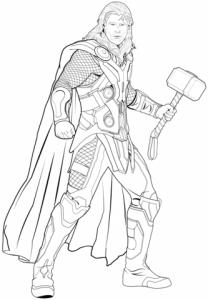 Dibujos De Thor A Lápiz Dios De Asgard Para Imprimir