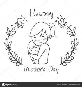 Dibujos Del Día De La Madre A Lápiz Feliz Día Mamita