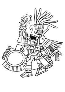 dibujos a lápiz de mayas