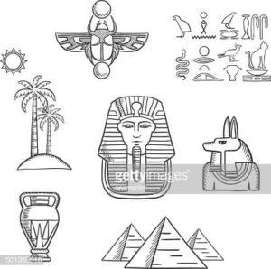 dibujos de egipcios