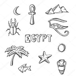 dibujos de egipto